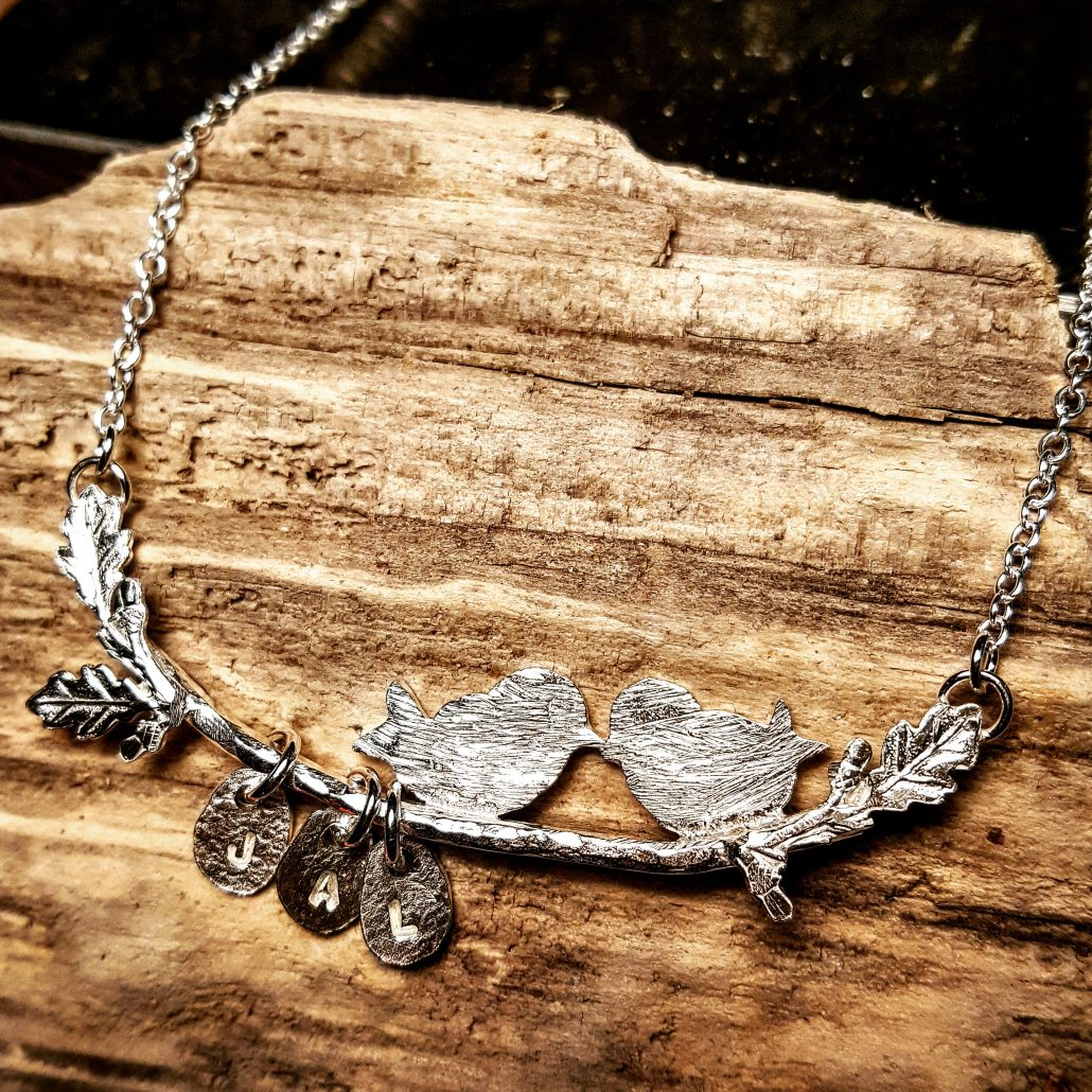 photograph of family tree necklace