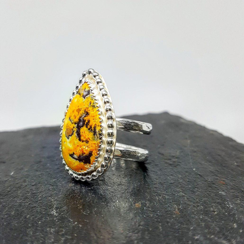 Photograph of bumblebee jasper ring